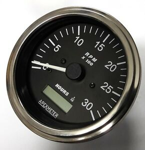 New Tachometer Hourmeter 0 3000 Rpm Alternator Diesel Engine 85mm 12v