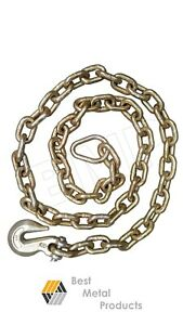 5 8 X 10 Ft Tow Chain With Hooks Tie Down Binder Trailer Flatbed Safety G70 148