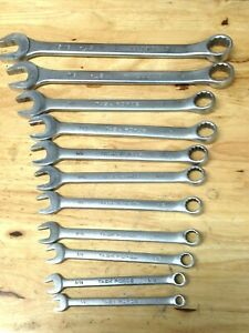 Automotive Tools Combination Wrenches Lot Of 11 Sae 15 16 1 4 Open End Box 2