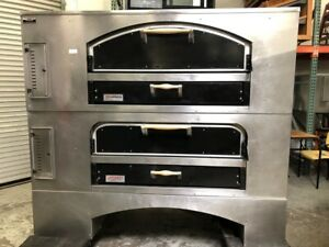 80 Pizza Ovens Double Stack Deck Bake Stainless Steel Marsal Sons 60 2000