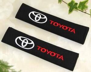 2pcs Cotton Car Seat Belt Cover Pad Shoulder Auto Safety Cushion Pad For Toyota
