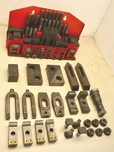 Bridgeport Mill Milling Machine Clamp Clamping Kit T Slot Set Hold Down