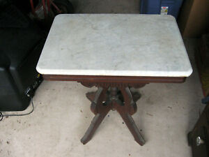Vintage Marble Top Table 26x18x29