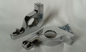 Chrome Stair Rod Brackets Clips Sets Available 1 Pair Hinged