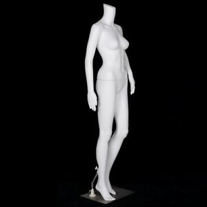 Plastic Headless Steel Base Female Mannequin