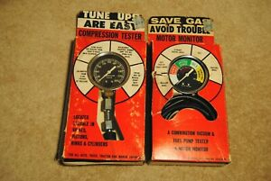 Vintage Rite Autotronic Compression Tester 535 And Motor Monitor No 538