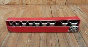 Matco Tools 1 4 Drive Sockets Lot Of 9 With Storage Rack