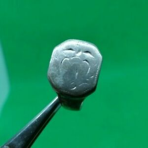 Late Medieval Decorated Silver Ring Complete 18 5 Mm Inner Diameter