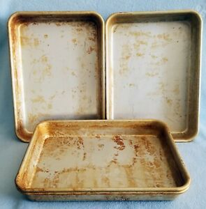 5 Pizza Hut Bread Stick Or Baking Pans 9 X 13 Seasoned Gently Used Free Ship