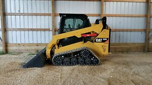 1 Owner 2014 Caterpillar 257d Cab Heat Air Track Skid Steer Loader Cat 257 257b
