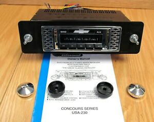 1955 Chevy Am fm Radio Custom Autosound Usa 230 Fits In Stock Dash Opening