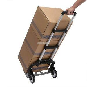 150 Lb Capacity Folding Hand Truck Cart Dolly Push Pull Box Moving Lightweight