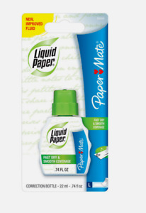 Papermate Liquid Paper White Out Correction Tape Fast Dry Smooth Coverage 74oz