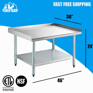 Nsf 30 d X 48 w X 24 h Stainless Steel Equipment Stand Commercial Kitchen