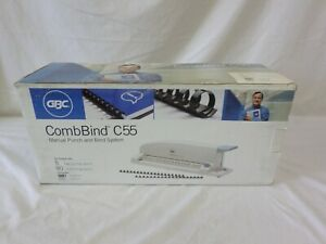 Gbc Combbind C55 Manual Punch And Bind System