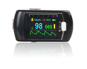Rechargeable Fingertip Pulse Oximeter 24h Spo2 Blood Oxygen Heart Rate Monitor