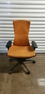Herman Miller Embody Orange Will Need To Be Cleaned Been Stored In Garage