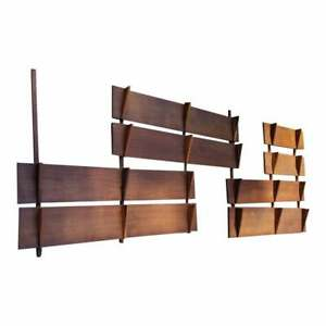 Cado Poul Cadovious Style Wall Unit Bookcase Shelving 5 Bays 5 Foot Shelves