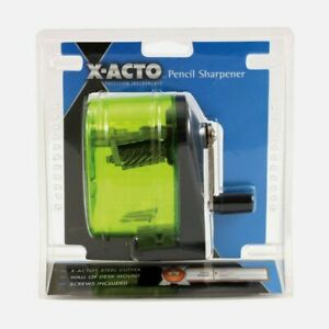 X acto Bulldog Pencil Sharpener Manual Assorted Colors Wall Mount See through