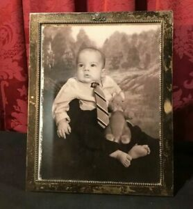 Vintage Antique Victorian Sterling Silver Easel Back Photo Picture Frame 8 By 10