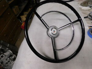 1957 Ford Steering Wheel And Horn Ring Nos