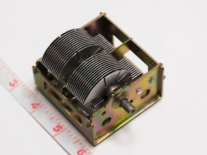 in Eu 2 Section Air Variable Tuning Capacitor 24 990 Pf Tube Am Radio Rare