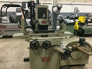 Kent Model Kgs 250 8 X 18 Manual Hand Feed Surface Grinder Ball Roller Table