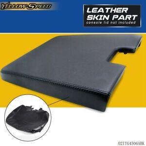 Leather Center Console Lid Armrest Cover For Silverado Tahoe Sierra 2007 2013