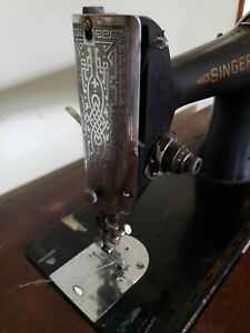 Antique Singer Treadle Sewing Machine Complete With Cabinet And Zig Zagger