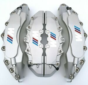 4pcs M Silver Brake Caliper Covers 11 F9 R For Bmw Engineering Plastic