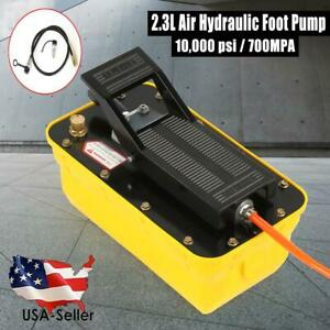 Auto Body Shop Air Hydraulic Foot Pump 2 3l Liter Pedal High Pressure 10 000 Psi