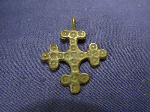Ancient Bronze Cross 9th To The Mid 13th Century Rare