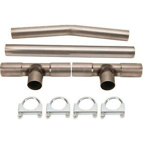 Universal Dual Exhaust H pipe Balance Tube Kit 2 1 4 Inch