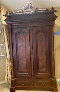 Beautiful Victorian Double Door Armoire Wardrobe