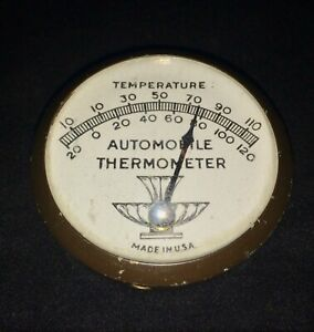 Vintage 40s Automobile Interior Thermometer Gauge Gm Ford Chevy Rat Rod Pontiac