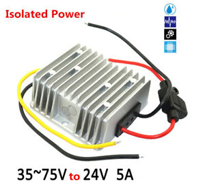 36 48 60v To 24v 5a 120w Isolated Power Dc Regulator Waterproof Power Module