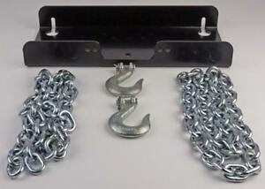 Warn Universal Winch Mounting Plate Permanent Or Portable W Anchor Chains