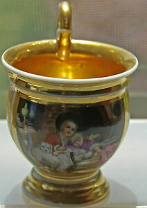 Antique Russian Porcelain The Batenin Factory Cup Early 19th Century