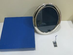 Large Carrs Sterling Silver Oval Picture Frame