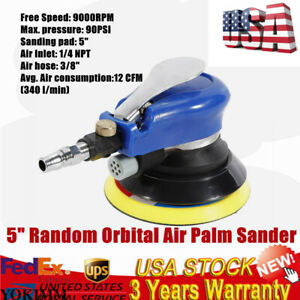 Us Durable 12 Cfm 5 Random Orbital Air Palm Sander 9000rpm With Wrench 90psi New
