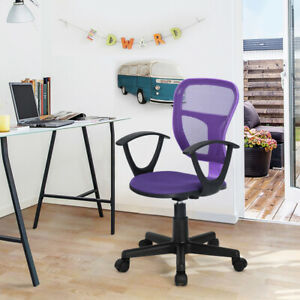 Office Task Desk Chair Adjustable Mid Back Home Children Study Chair With Armres