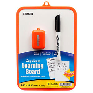 New 372258 Dry Erase Learning Board W Marker Eraser Asst Clr 6016 24 pack