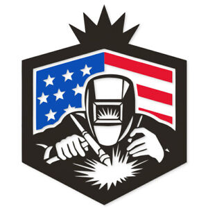 Welder With Usa American Stars Dxf Cdr And Eps File For Laser Cut Cnc Machine