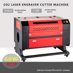 60w 20 X 28 Co2 Laser Engraving Machine Laser Engraver Cutter W usb Interface