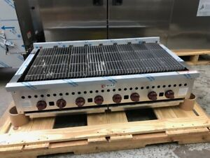 New 48 Radiant Char Broil Grill Wolf Scb47cn 2040 Commercial Bbq Burger Nsf