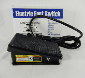 New Momentary On Off Electric Power Foot Switch 96619 Hands Free Pedal