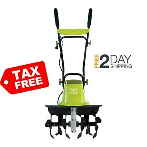 Electric Garden Tiller Cultivator 16 inch 13 5 Amp 6 Durable Steel Angled Tines