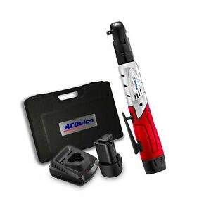 Acdelco Cordless 3 8 Ratchet Wrench 57 Lb Of Max Torque Tool Set With 2 Bat