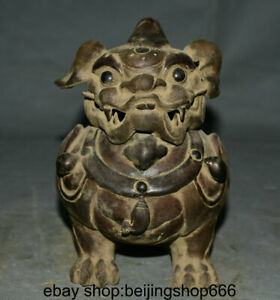 6 8 Ancient China Porcelain Dynasty Pixiu Unicorn Beast Incense Burner Censer