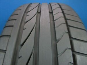 Used Bridgestone Potenza Re050a Rft 205 45 17 6 7 32 Tread 1733c